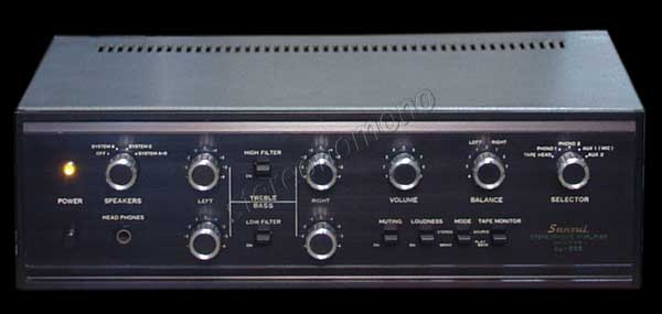 The Sansui AU-555 Integrated Amplifier has a prolifieration of tone controls and other circuit modifications.