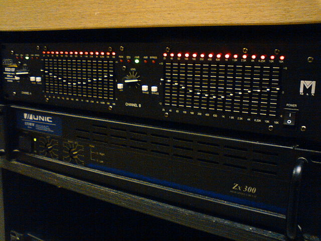 A typical graphic equalizer.